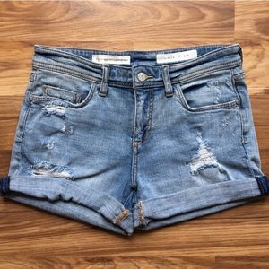 Pilcro & the Letterpress Hyphen Distressed Shorts